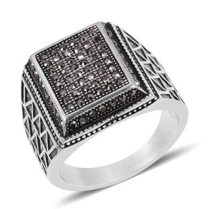 Black Oxidized Stainless Steel Men's Ring